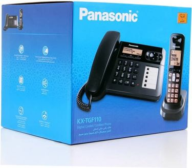 Panasonic KX-TGF110 Corded & Cordless Landline Phone Price in India