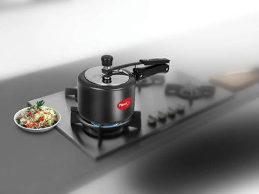 Pigeon Titanium 12422 Hard Anodized 5 L Pressure Cooker (Induction Bottom,Inner Lid) Price in India