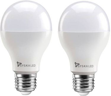 Syska 12 W Standard E27 1200L LED Bulb (Yellow,Pack of 2) Price in India