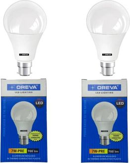 Oreva Pre 7W Standard B22 700L LED Bulb (White,Pack of 2) Price in India