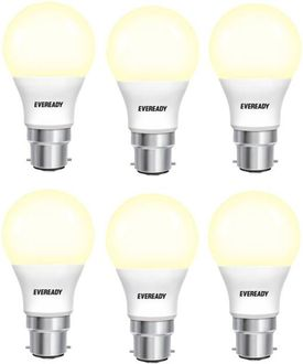 Eveready 5W Standard B22 450L LED Bulb (Yellow,Pack of 6) Price in India