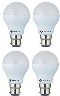 Bajaj 7W Standard B22 600L LED Bulb (White,Pack of 4) Price in India