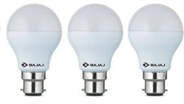 Bajaj Corona 5W Standard B22 500L LED Bulb (White,Pack of 3) Price in India