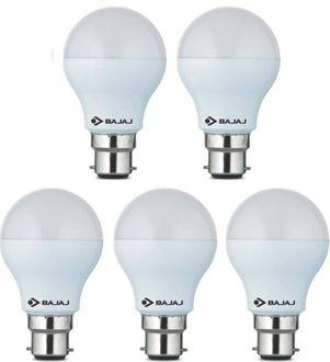 Bajaj 7W Standard B22 600L LED Bulb (White,Pack of 5) Price in India