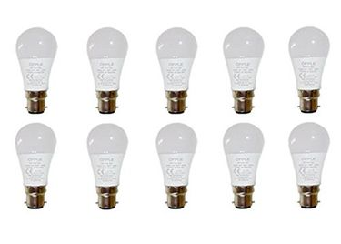 Opple 3W Round B22 220L LED Bulb (Yellow,Pack of 10) Price in India