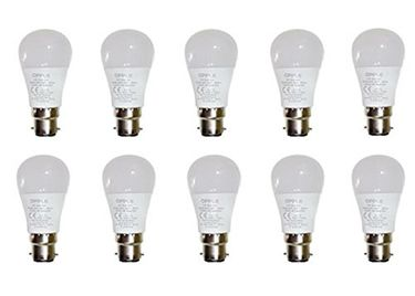 Opple 3W Round B22 250L LED Bulb (White,Pack of 10) Price in India