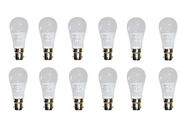 Opple 3W Round B22 250L LED Bulb (White,Pack of 12) Price in India