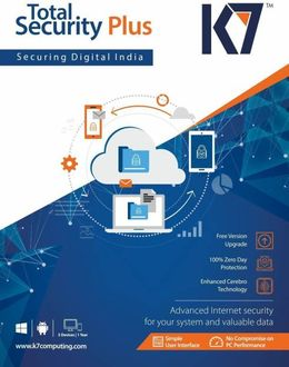 K7 Total Security Plus 4 PC 1 Year Antivirus Price in India