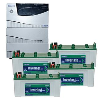 Luminous Cruze 3.5KVA Sine Wave Inverter With IL-18039 Batteries (Pack of 4) Price in India
