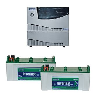 Luminous Cruze 2KVA Sine Wave Inverter With IL-18039 Batteries (Pack of 2) Price in India
