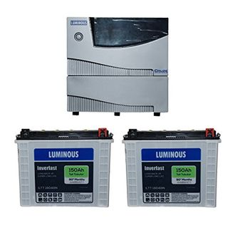 Luminous Cruze 2KVA Sine Wave Inverter With ILTT-18048N Batteries (Pack of 2) Price in India
