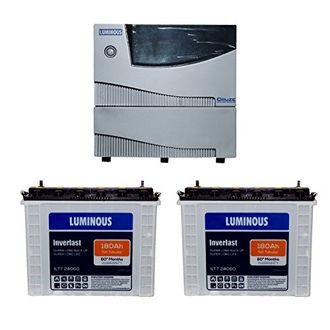 Luminous Cruze 2KVA Sine Wave Inverter With ILTT-24060 Batteries (Pack of 2) Price in India
