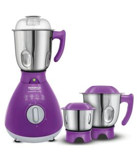 Maharaja Whiteline MX-163 Powerclick Indigo 750W Mixer Grinder (3 Jars) Price in India