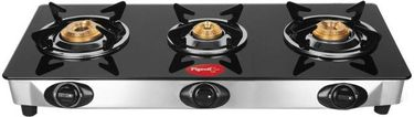 Pigeon Ultra Stainless Steel Manual Gas Cooktop (3 Burners) Price in India