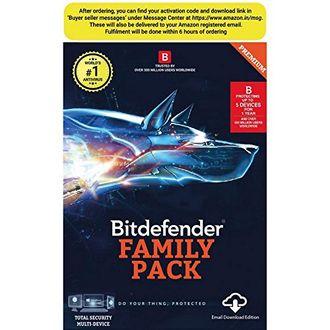 Bitdefender Family Pack 2017 5 PC 1 Year Antivirus (Key) Price in India