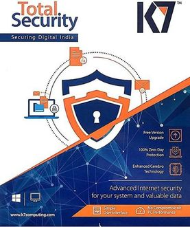K7 Total Security 1 PC 3 Year Antivirus Price in India