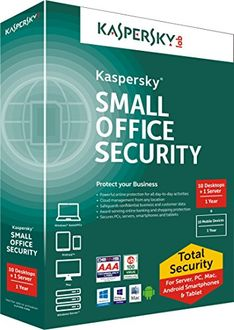 Kaspersky Small Office Security 10 PC's, 1 File Server Antivirus (Key Only) Price in India