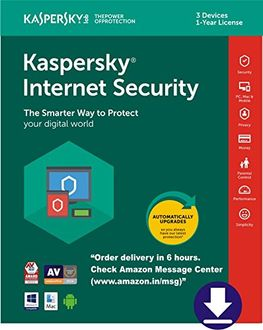 Kaspersky Internet Security 3 PC 1 Year Antivirus (Key Only) Price in India