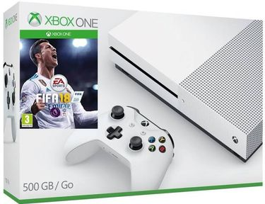 Microsoft Xbox One S Console 500GB Gaming Console (With Fifa 18) Price in India