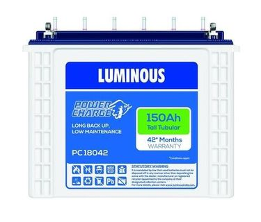 Luminous PC18042 150Ah Tubular Battery Price in India