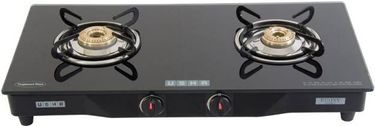 Usha Ebony GS2 001 Glass Manual Gas Cooktop (2 Burners) Price in India
