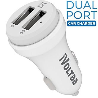 iVoltaa P24 2.4A Dual Port USB Car Charger Price in India