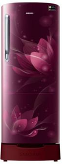 Samsung RR24N287YR8/NL 230 L 4 Star Inverter Direct Cool Single Door Refrigerator (Blooming Saffron) Price in India