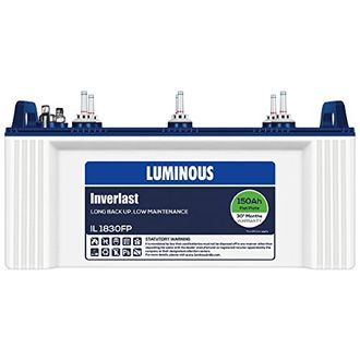 Luminous IL 1830FP 150AH Battery Price in India