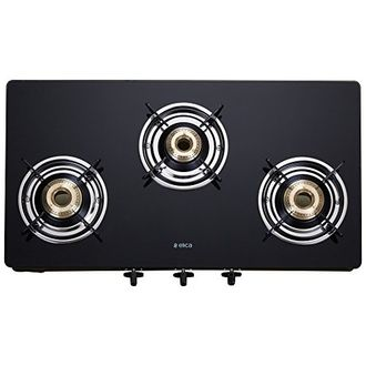 Elica 703 CT Vetro Glass Top Manual Gas Cooktop (3 Burners) Price in India