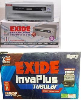 Exide 1050VA Sine Wave Inverter With Invaplus IPT-1500 150AH Tubular Battery Price in India
