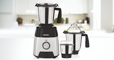 Borosil Silverline 750 W Mixer Grinder (3 Jars) Price in India