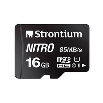 Strontium Nitro 16GB MicroSDHC Class 10 (85MB/s) UHS 1 Memory Card Price in India