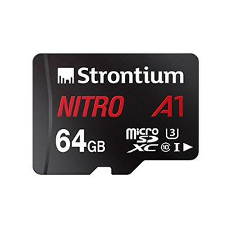 Strontium Nitro A1 64GB MicroSDXC Class 10 (100MB/s) UHS-3 Memory Card (With Adapter) Price in India
