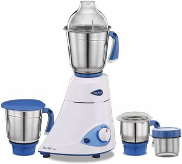 Preethi Blue Leaf Silver 750W Mixer Grinder (4 Jars) Price in India