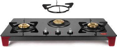 Pigeon Infinity Glass Manual Gas Cooktop (3 Burners) Price in India