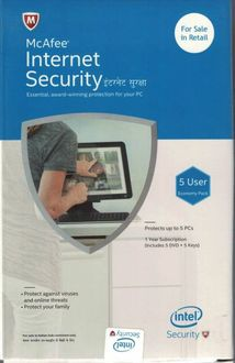 McAfee Internet Security 2018 5 PC 1 Year Antivirus Price in India