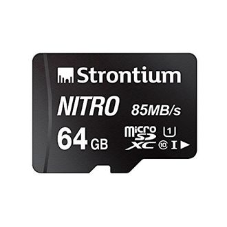 Strontium Nitro 64GB MicroSDXC Class 10 (84MB/s) Memory Card Price in India