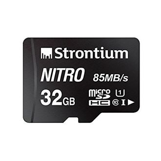 Strontium Nitro 32GB MicroSDHC Class 10 (84MB/s) Memory Card Price in India