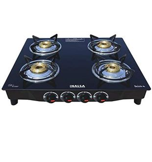 Inalsa Dazzle Toughened Glass Gas Stove (4 Burners) Price in India