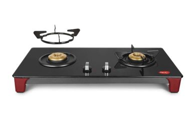 Pigeon Infinity Glass Manual Gas Cooktop (2 Burners) Price in India