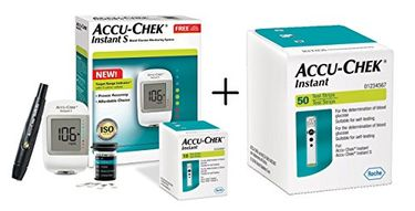 Accu-Chek Instant S Blood Glucose Monitor (With Instant 50 Strips) Price in India