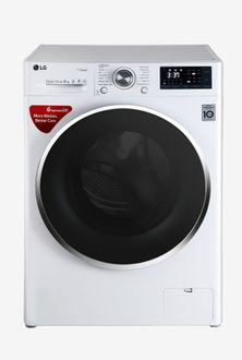 LG 8kg Fully Automatic Front Load Washing Machine (FHT1208SWW) Price in India