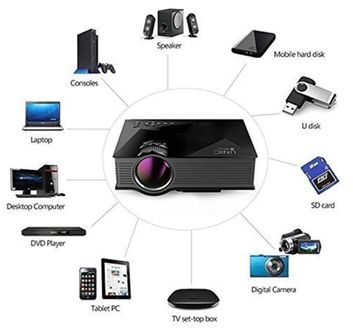 Unic UC46 1200 Lumens Portable LED Projector Price in India