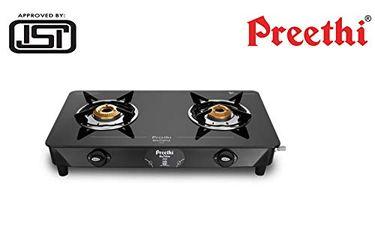 Preethi Zeal Glass Manual Gas Cooktop (2 Burners) Price in India