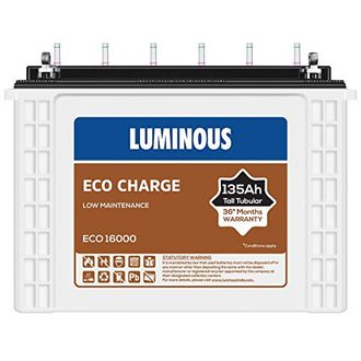 Luminous Eco Charge Eco16000 135Ah Tall Tubular Battery Price in India