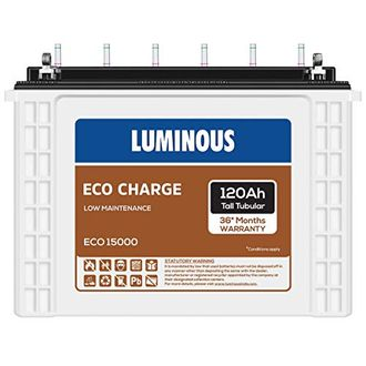 Luminous Eco Charge Eco15000 120Ah Tall Tubular Battery Price in India