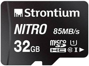 Strontium Nitro 32GB Micro SDHC Class 10 (85 MB/s) Memory Card Price in India