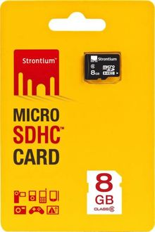 Strontium 8GB Micro SDHC Class 10 (10 MB/s) Memory Card Price in India