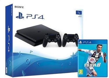 Sony Ps4 Slim 1TB Gaming Console (With FIFA 19 & Extra Dual Shock Controller) Price in India