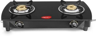 Pigeon 12320 Brass Oval Stainless Steel Manual Gas Cooktop (2 Burners) Price in India